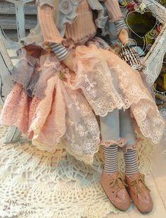 ГОТОВАЯ РАБОТА ЦЕНА 7 000р.  Купить Тильду Кукла в стиле Бохо, нежнейшая девушка Кристин! Шикарный наряд, в розово-серых тон...
