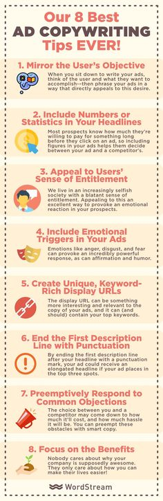 Best copywriting tips ever infographic