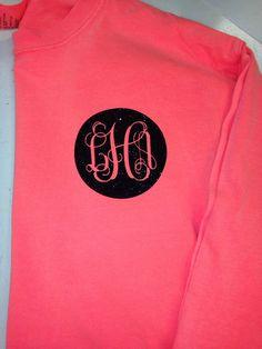 Comfort color longsleeve shirt with glitter vinyl! on Etsy, $22.50