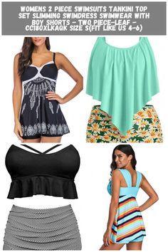 Womens 2 Piece Swimsuits Tankini Top Set Slimming Swimdress Swimwear with Boy Shorts - Two Piece-leaf - CC18OXLKAQK - Sports & Fitness Clothing, Women, Swimwear, Two-Piece Suits  #TwoPieceSuits #Sports #& #Fitness #Clothing # #Women # #Swimwear # #TwoPiece #Suits two piece swimsuit Tankini Womens 2 Piece Swimsuits Tankini Top Set Slimming Swimdress Swimwear with Boy Shorts - Two Piece-leaf - CC18OXLKAQK Size S(fit like US 4-6) 2 Piece Swimsuits, Fitness Clothing, Swim Dress, Tankini Top, Boy Shorts, Two Pieces, Slim, Boys, Swimwear