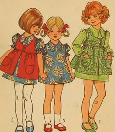 Vintage Girls Dress and Smock Sewing Pattern