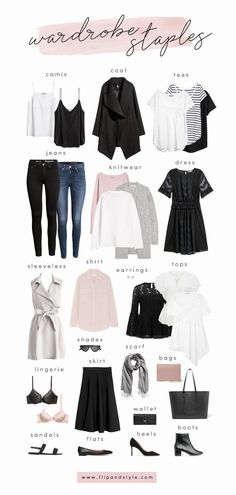 How to build a capsule wardrobe with closet staples for 2018. Style essentials and minimalist outfit ideas for summer, fall, winter and spring. #MensFashionFall