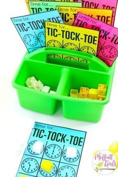 Grade Math: Time Tic-Tock-Toe three in a row wins this game. Teach telling time by the half hour with this fun first grade math game!Tic-Tock-Toe three in a row wins this game. Teach telling time by the half hour with this fun first grade math game! Second Grade Math, First Grade Classroom, Math Classroom, Math Math, 2nd Grade Math Games, Graphing First Grade, Teaching Time, Teaching Math, Fun Math Games