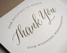 Calligraphy is in right now. And we aren't mad about it. | Say thank you to your girls in the most fabulous way possible: http://www.mywedding.com/articles/bridesmaid-thank-you-cards/