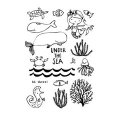 Flora and Fauna UNDER THE SEA Clear Stamp Set 20134