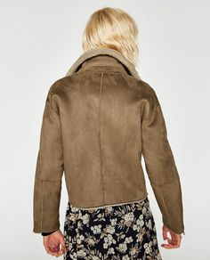 Image 5 of SUEDE EFFECT JACKET from Zara