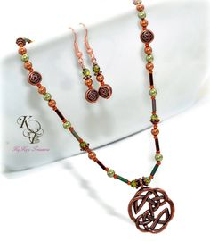 Celtic Knot Necklace and Earring Set Celtic Knot by KyKysTreasures