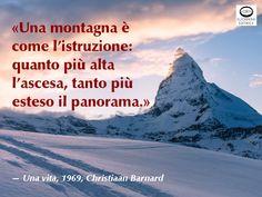 """Devo dire che Barnard in questo aforisma ci ha """"messo cuore"""". Emoticon wink Sei d'accordo con Barnard? «Una montagna è come l'istruzione: quanto più alta l'ascesa, tanto più esteso il panorama.» — Una vita, 1969, Christiaan Neethling Barnard (Beaufort West, 8 novembre 1922 – Pafo, 2 settembre 2001). Chirurgo sudafricano di fama mondiale. Fu lui a effettuare il primo trapianto cardiaco della storia. #istruzione, #Barnard, #cuore, #cit, #citazioni, #aforismi, #montagna"""