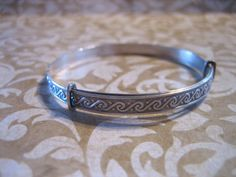 Art Deco Sterling Silver Small Adult Childs or by charmingellie, $34.00