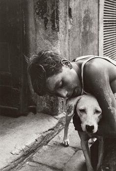 Will McBride Boy And Dog, Florence, 1956