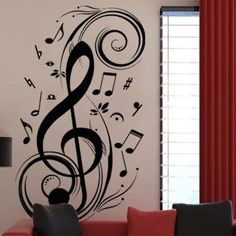 Music Note Pattern Graffiti Wall Decor Mural Decal Sticker PVC Wallsticker New wall sticker Graffiti Wall, Wall Murals, Bedroom Themes, Bedroom Decor, Music Bedroom, Home Music, Band Rooms, Music Painting, Music Notes