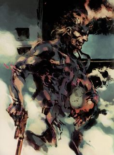 MGS2. Solid Snake Illustration. Yoji Shinkawa.
