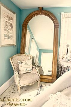To die for vintage floor to ceiling mirror {May DH 2012}