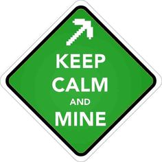 "Keep Calm and Mine - Minecraft Video Game advice. You know it's good to be calm in any situation. Order one 2""x2"" vinyl sticker free of charge! Pickup is free of charge. Shipping is calculated as per Canada Post rates. Check our vinyl sticker online collection: anysigns.ca"