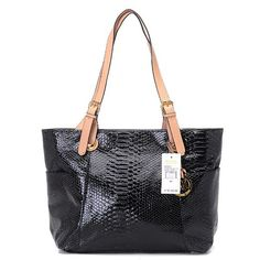 Michael Kors Crocodile Embossed Large Black Totes.More than 60% Off, I enjoy these bags.It's pretty cool (: Check it out! | See more about michael kors outlet, michael kors and outlets.