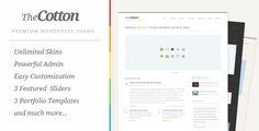 The Cotton - Powerful Minimalistic WordPress Theme by pexeto on Themeforest