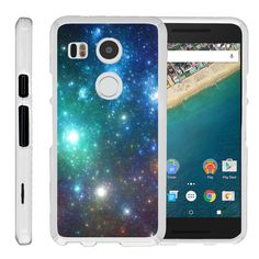LG Nexus 5X Case SNAP SHELL Slim White Snap On Case Protector - Colorful Galaxy…