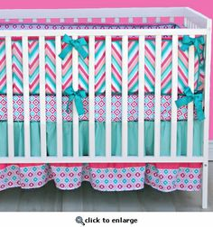 Chevron Crib Bedding at Jack and Jill Boutique