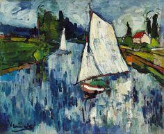 le-desir-de-lautre:  Maurice de Vlaminck (French, 1876-1958), Voiliers à Chatou [Sailing Boats at Chatou], 1906. Oil on canvas,58 x 71cm. ...