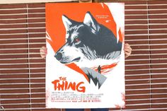 """This 3-color screen print produced by Mama's Sauce to promote the showing of the 1982 classic horror film """"The Thing"""" is an inspiring example of what can be done with something as simple as halftones. Here they are applied to French Paper Co.'s Construction Whitewash 100 lb. Cover to add gradients that make portions of illustrator David Moscati's work appear as different shades."""