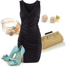 LBD & Pops Of Color, created by alanad23 on Polyvore