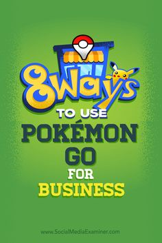 Do you run or help promote a local business?  Pokémon Go is close to topping the number of daily users on Twitter and average time spent on the Facebook app. That's why it's time for your business to capitalize on it.  In this article, you'll discover how you can boost your business's social media engagement with Pokémon Go. Via @smexaminer.