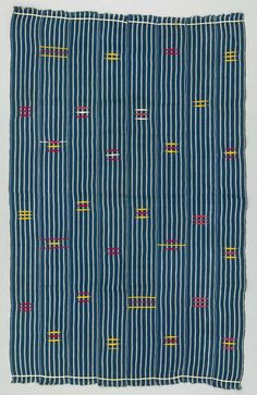 Africa | Baby carrier from the Ewe people of south - eastern parts of the Volta Region of Ghana | Cotton | ca. 1960 - 1980