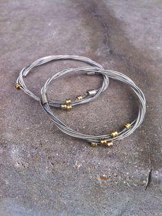 Recycled Guitar Strings Bracelet