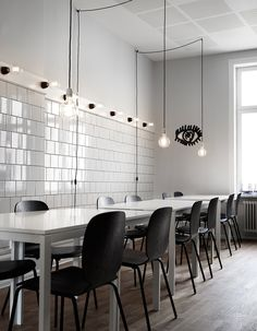 """Interior designer Nanna Lagerman has designed the office spaces for IKEA's Creative Hub in in Malmö, Sweden where employees can """"go bananas writing on every wall""""."""