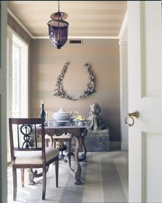 matte + glossy striped paint. What about walls like this for the foyer!! Talk about an entrance.