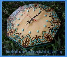 Wood Burning Clock