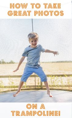 Photography Tutorial - how to take great photos on a trampoline including a great trick which allows you to make the the net disappear from photographs, why a camera will naturally overexpose photos taken on a trampoline and which setting to use on your camera to get the best shots!