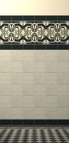 Art Nouveau tiles #bathroom