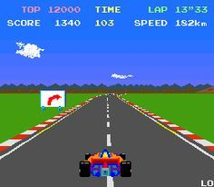 Pole Position Atari 2600 - can't beat the oldies! Classic Video Games, Retro Video Games, Retro Games, Pac Man, Pinball, Videogames, Playstation, First Video Game, Retro Arcade