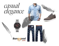 """""""Banggood"""" by thefashion007 ❤ liked on Polyvore featuring men's fashion and menswear"""