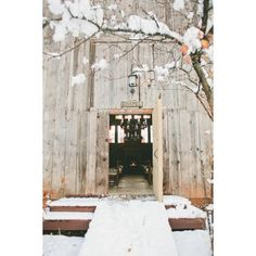 A Romantic Winter Wedding in the Snow ❤ liked on Polyvore featuring backgrounds, frames & background and photos