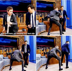 Eddie Redmayne - Fantastic Beasts cast - Eddie Redmayne teaching Jimmy Fallon the Erumpent mating dance