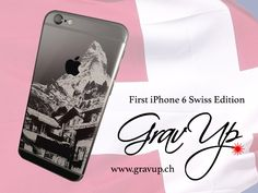 "The first engraved iPhone 6 - A ""Swiss Edition"" with the famous Matterhorn"
