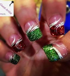 30 festive Christmas acrylic nail designs: Nails by Amber Gerrish