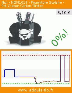 Nici - NIS91019 - Fourniture Scolaire - Pot Crayon Carton Pirates (Jouet). Réduction de 65%! Prix actuel 3,10 €, l'ancien prix était de 8,79 €. http://www.adquisitio.fr/nici/nis91019-fourniture