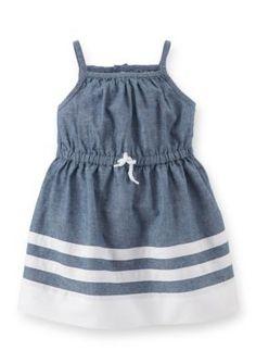 Carters  Paneled Chambray Dress