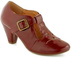 Love this: Burst Of Style Heel in Burgundy @Lyst