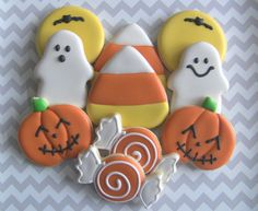 Trick Or Treat Halloween Decorated Cookies