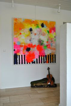Exhibition of the painting Symphony #2 - 140x140. A painting by artist Tove Andresen