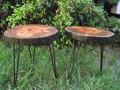 """Pecan """"Stoobles"""" with Hair Pin Legs  Crafted by MagnerVision & Black Metal Design."""