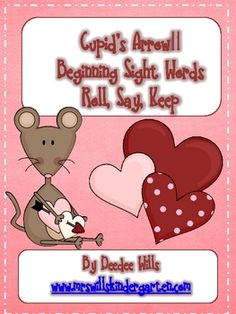 Valentine's Day fun!  Adorable mice make this familiar game just perfect for your Valentine themed literacy stations or word work.64 beginning ...