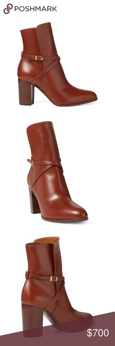 94eaa484d8 Ralph Lauren Lanelle Luxe Calfskin Boot This boot's stirrup-shaped hardware  and slender ankle straps