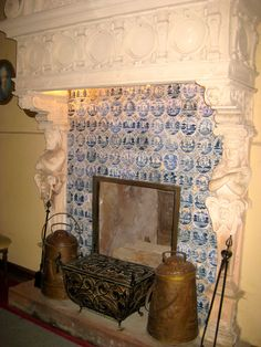 delft tile fireplace surround - Google Search