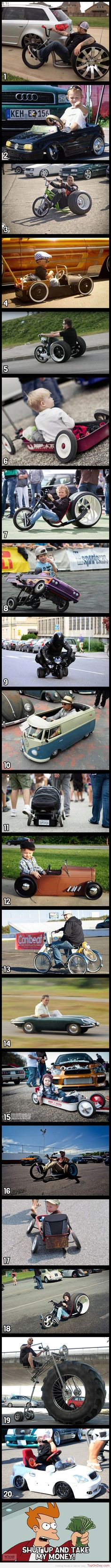 These are awesome!!! Lol I want my future kids to have badass wagons!!!