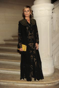 Isabella Ferrari in a Spring Summer 2016 look to the Valentino Haute Couture Spring/Summer 2016 fashion show on January 27th 2016.